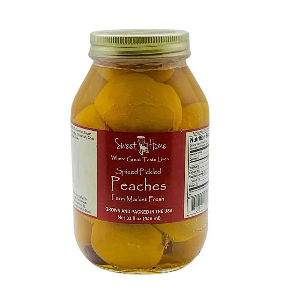 Sweet Home Spiced Pickled Peaches