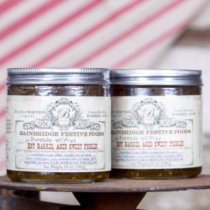 Hot Barrel Aged Sweet Pickles