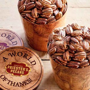 World of Thanks Gift Tub - Roasted & Salted Pecan Halves