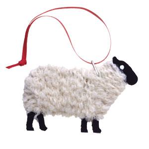 Lewis - Handmade Blackfaced Sheep Ornament