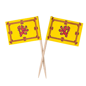 Rampant Lion Flag Toothpicks - Box of 100