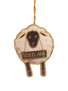 SALE Scotland Black Face Sheep Ornament