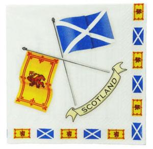 Scottish Flag Napkins - package of 20