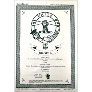 Brodie Clan Teatowel