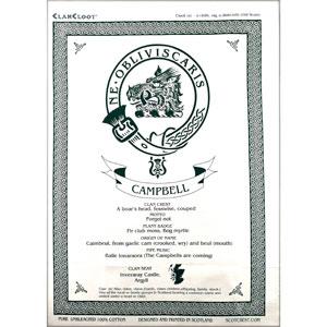 Campbell Clan Teatowel