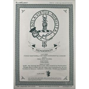 Henderson Clan Teatowel