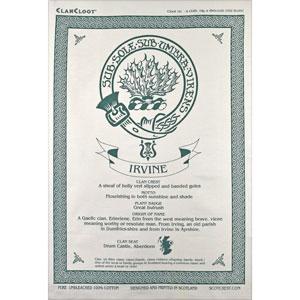 Irvine Clan Teatowel
