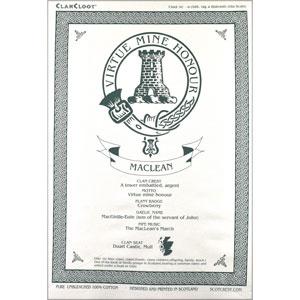MacLean Clan Teatowel