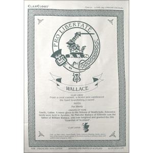 Wallace Clan Teatowel