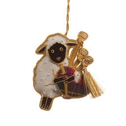 Bagpiping Sheep Ornament