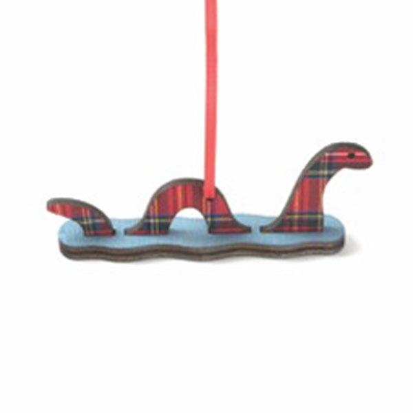 Tartan Swimming Nessie Ornament