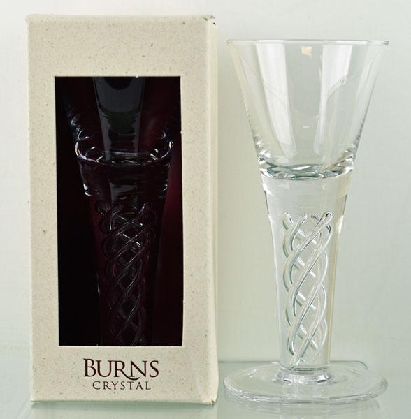 Burns Dram Glass with Air Twist Stem