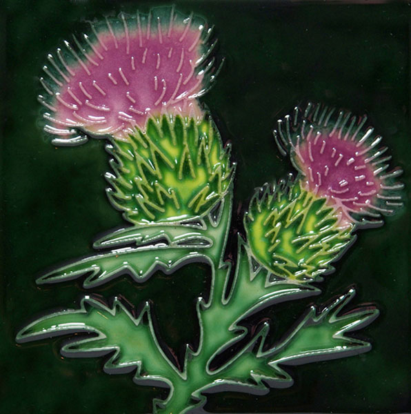 Thistle 4 Inch Square Tile