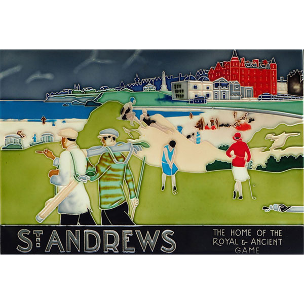 St. Andrews Graphic 12 by 8 Tile