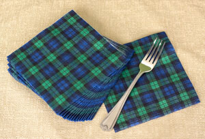 Black Watch Paper Napkins - 20 per package & black-watch-tartan-paper-napkins-for-sale-in-usa