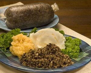 Vegetarian haggis 1 lb log haggis store name for Burns supper order of service