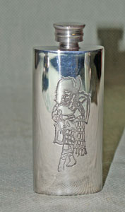 Piper Boot Flask in Pewter