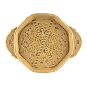 Thistle Shortbread Pan - Octagonal Ceramic with Shortbread Cookbook