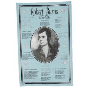 Robert burns teatowel burns night dinner store name for Burns supper order of service
