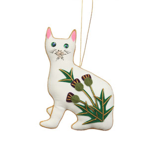 Wemyss Thistle Cat Ornament