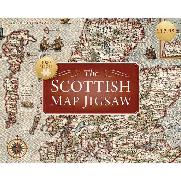 Antique Scotland Map Puzzle