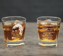 Burns Whisky Glass with Selkirk Grace