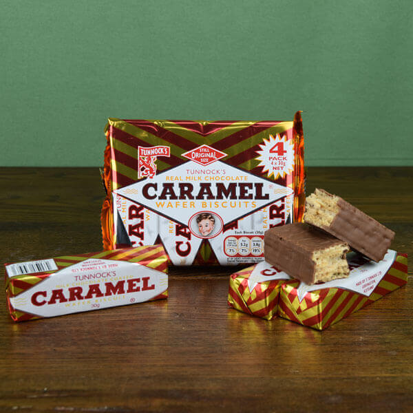 Tunnock's Caramel Wafers - pack of 4 bars