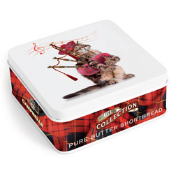 Cat Piper Square Shortbread Tin from Campbells