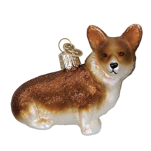 Corgi Glass Ornament
