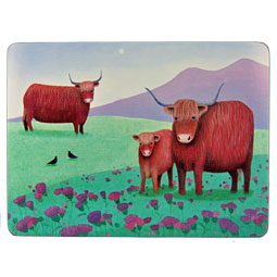 Highland Cow Placemats - set of 6