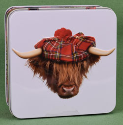 Highland Cow with Tam Shortbread Tin from Campbells
