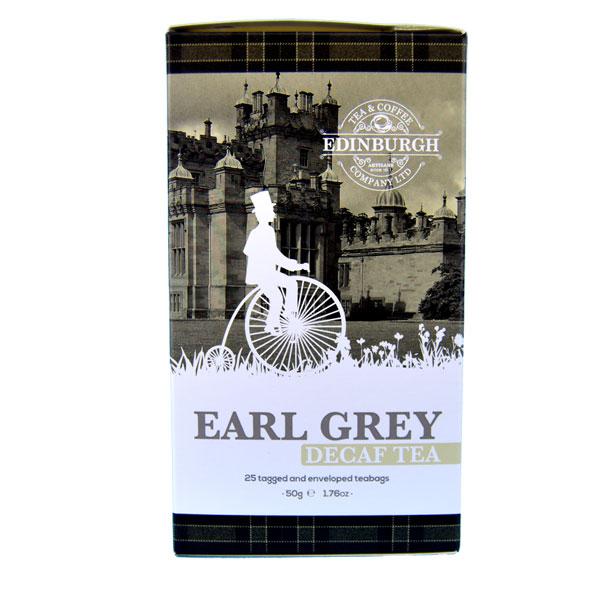 Decaffeinated Earl Grey Tea - box of 25 teabags.