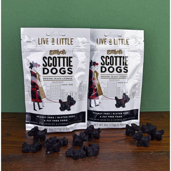 Black Licorice Scottie Dogs - two 6 oz. bags