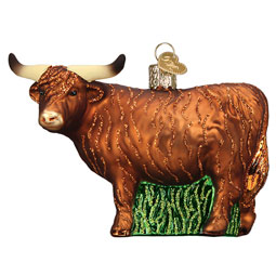Highland Cow Glass Ornament from Old World Christmas