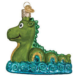 Loch Ness Monster Glass Ornament