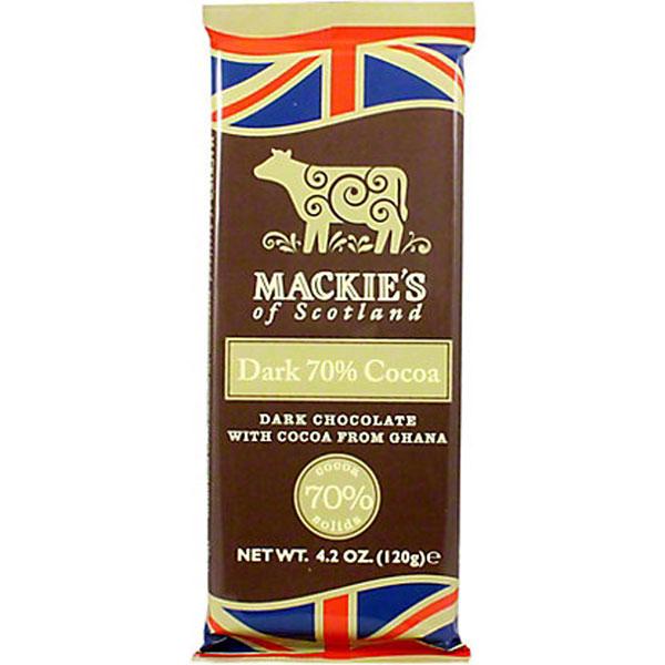 Mackie's Dark Chocolate Bar 4.2 oz. bar