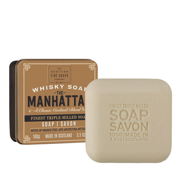 SALE Manhattan Whisky Soap in a Tin