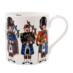 SALE Scotland Piper Bone China Mug