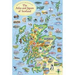 Scotland Map Puzzle And Atlas - 300 pieces