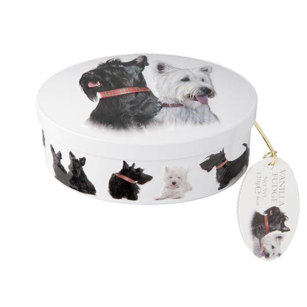 Scottie Dog Oval Fudge Tin