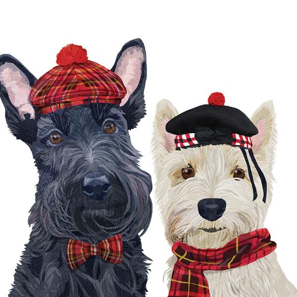 Fiona & Angus luncheon napkins