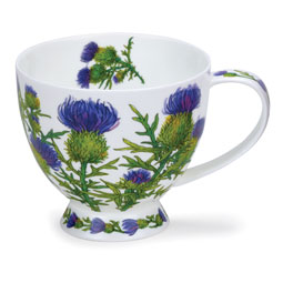 Skye Thistle Mug from Dunoon Pottery