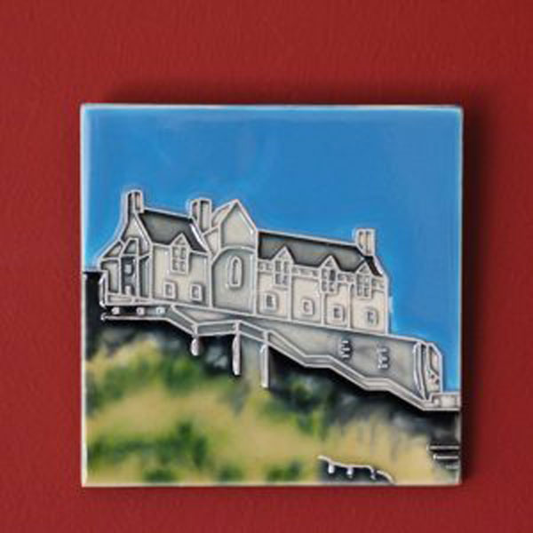 Edinburgh Castle 4 by 4 inch ceramic tile