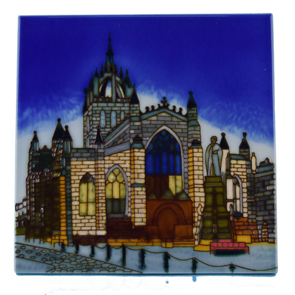 St Giles Cathedral Ceramic Tile - 8inch square