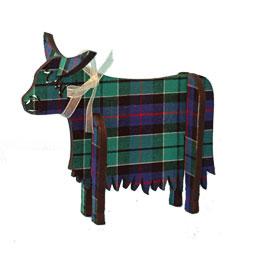 SALE Standing Tartan Highland Cow