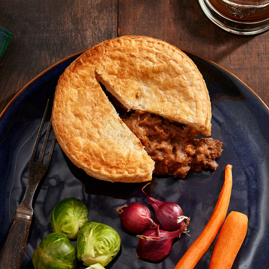 Steak, Bacon & Ale Pie - Set of two 9 oz. Pies