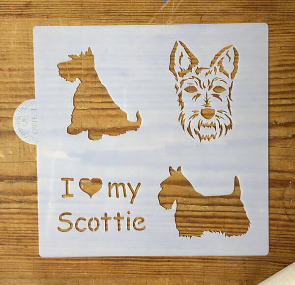 SALE I Love My Scottie Craft and Cookie Stencil
