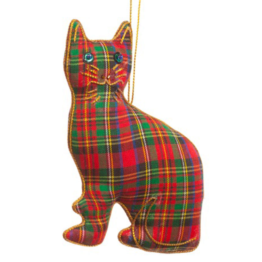 Tartan Cat Ornament