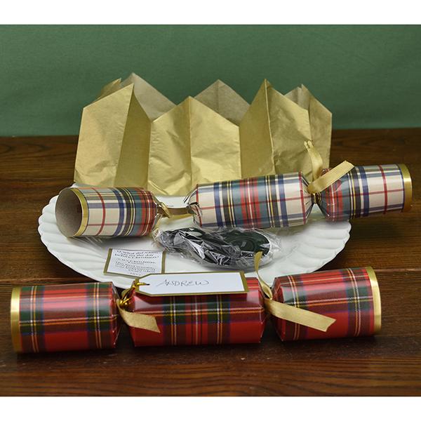Tartan Christmas Crackers - set of eight