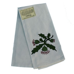 SOLD OUT Embroidered Thistle Teatowel
